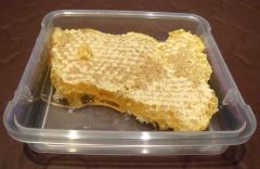 Comb honey.