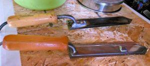 Hot knives.