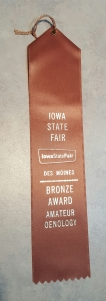 Iowa State Fair Ribbon!!